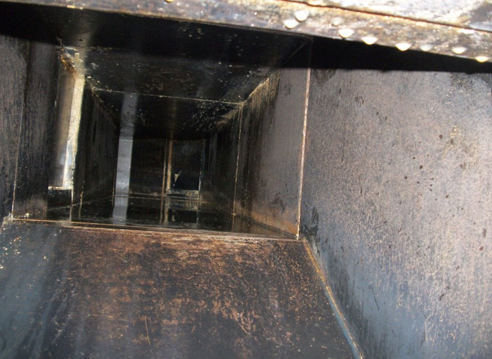 Cleaned Grease Duct